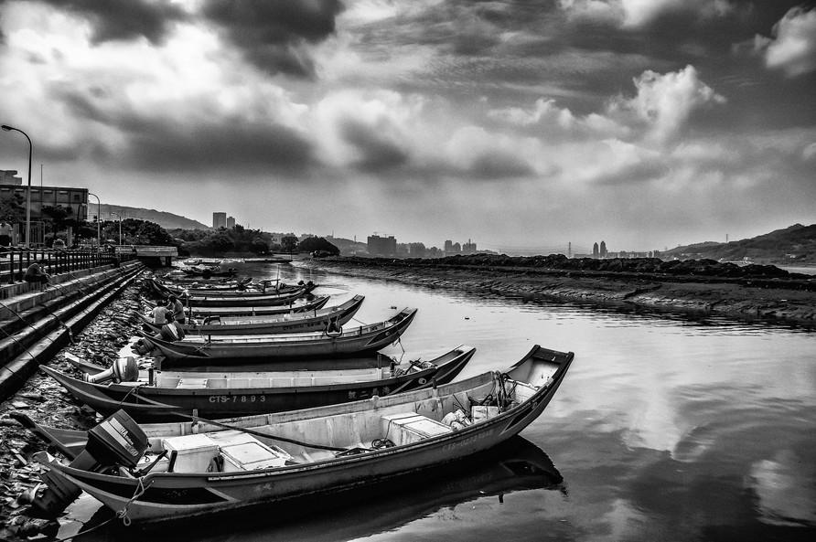 Boats near Taipei