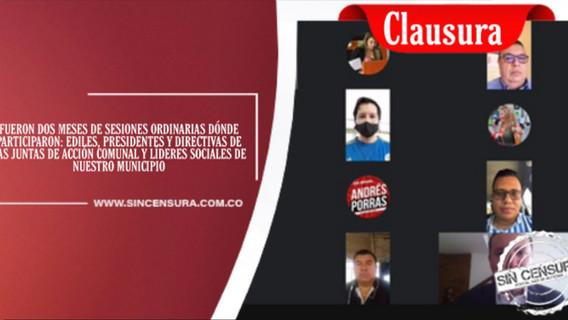 CLAUSURA 2 PERIODO SESIONES ORDINARIAS
