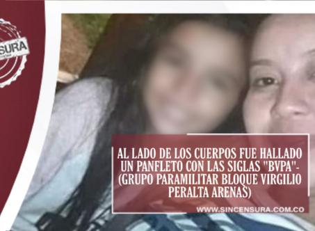 Paramilitares asesinaron a tía y sobrina, luego dejaron sus cuerpos a mitad de la carretera