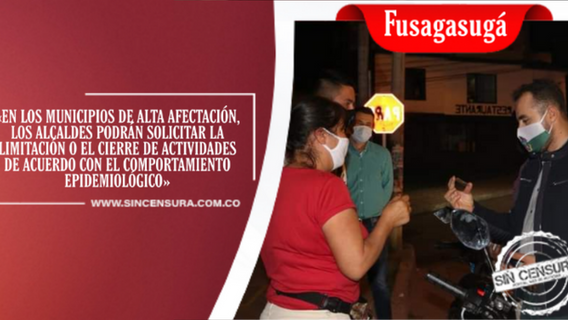 Con previa autorización, El alcalde Jairo Hortúa, podrá limitar ciertas actividades en Fusagasugá