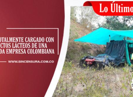 La Policía Nacional encontró en Chinauta, tracto camión hurtado horas antes en la vía hacia Madrid