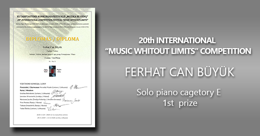 "20'th ""Music Without Limits"" Contest 1st Prize"