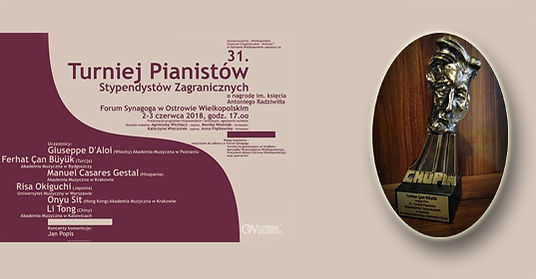 F. C. Büyük received the first prize at the Antonin Piano Competition