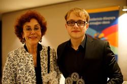Rotary awards with Tijen Par