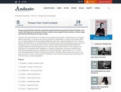 Andante Resital duyurusu