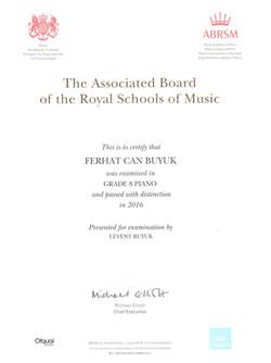 Royal_School_Grade_8_Sertifikası