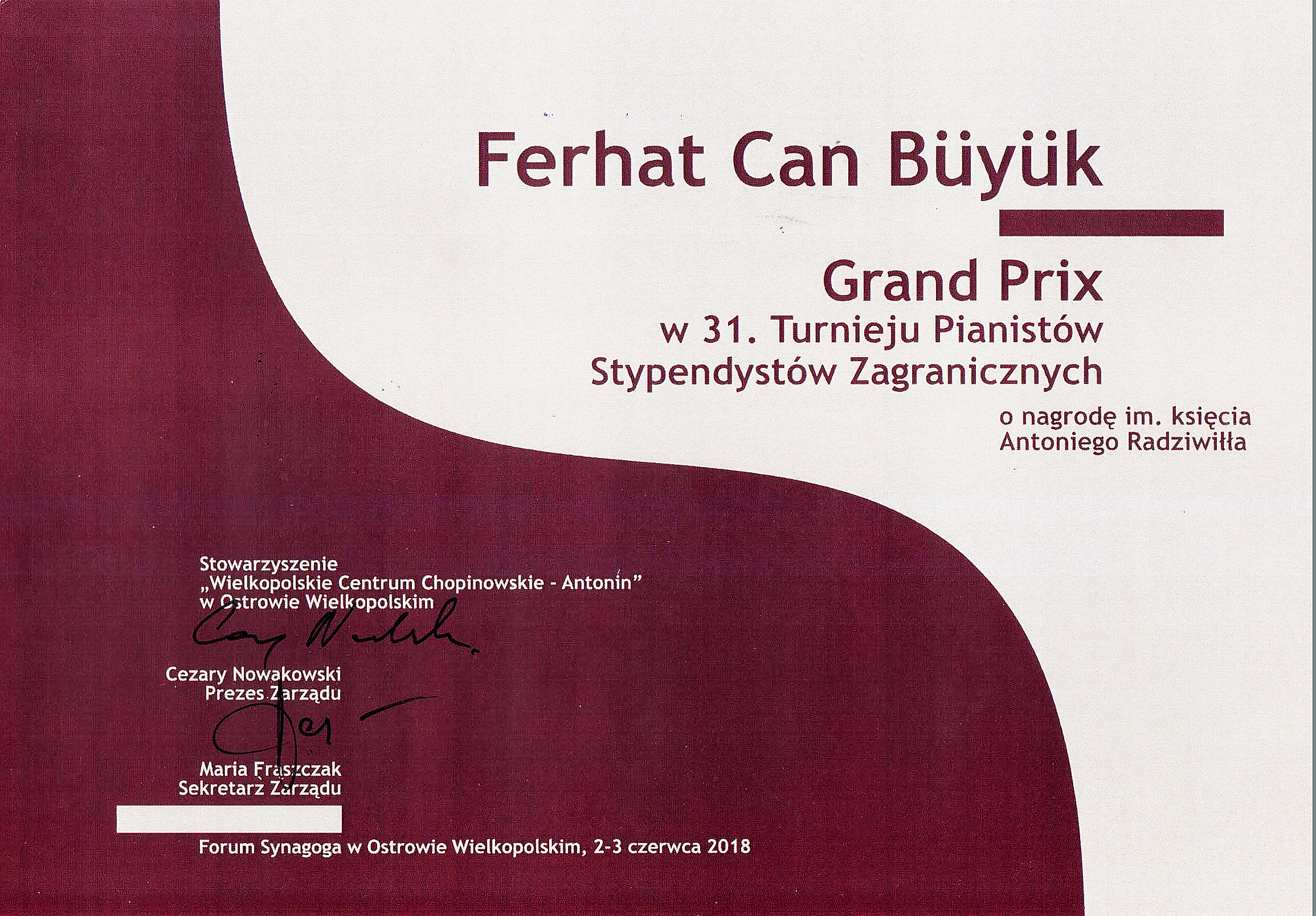 Antonin Grand Prize