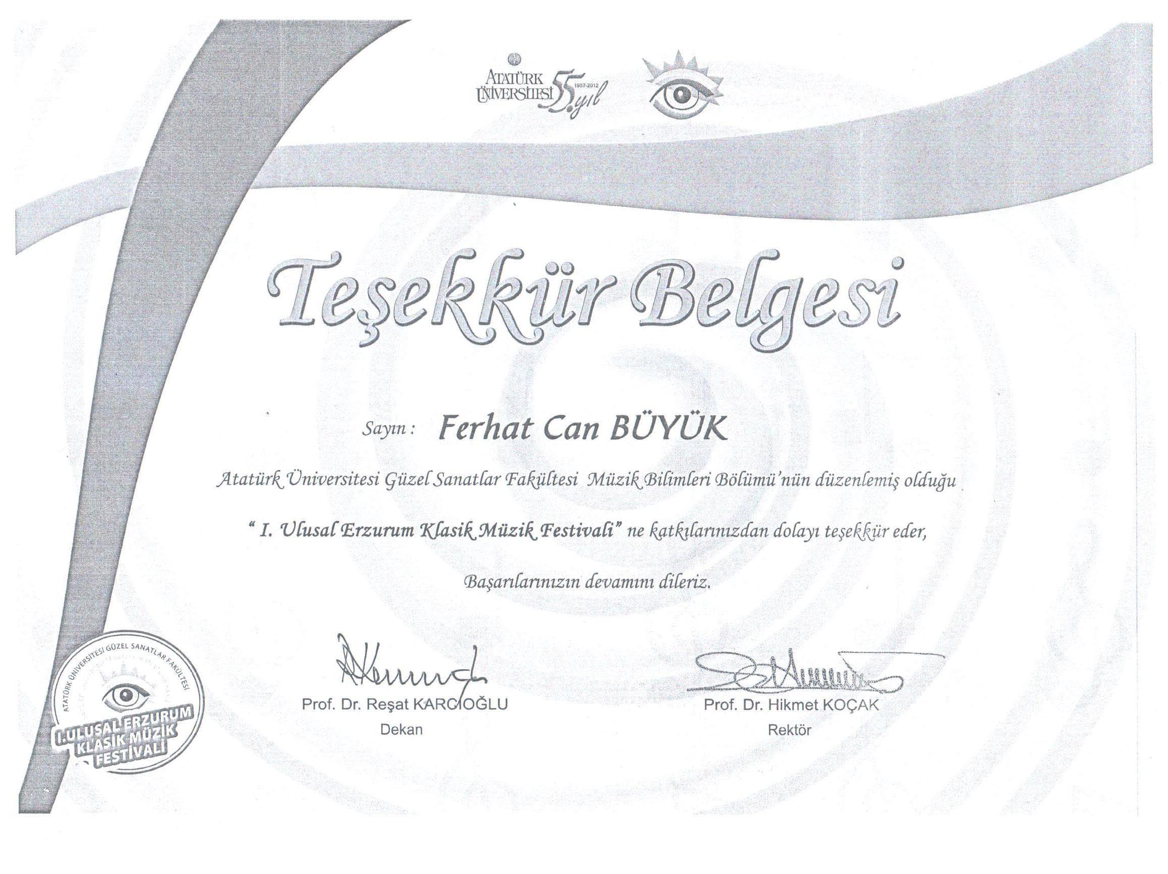 Erzurum_Üniversitesi_Teşekkür_Belgesi