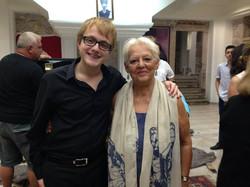 With Filiz Ali after Cunda Concert