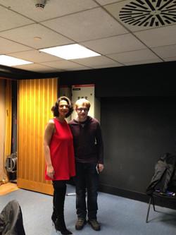With Khatia Buniatishvili at b.stage