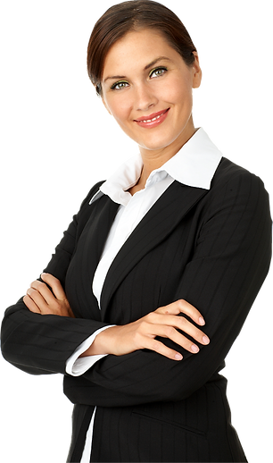 People with Transparent background - classy woman - folded arms.png
