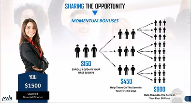 MWR Financial - Income example 1500 mo -