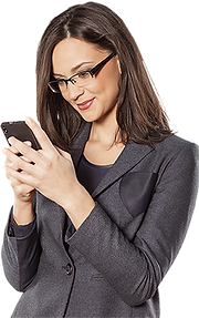 Person on cell phone - with transparent