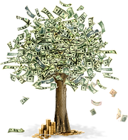 Money Tree with transparent background 2