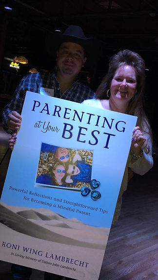 John and Roni Lambecht at book release party for Parenting at Your Best