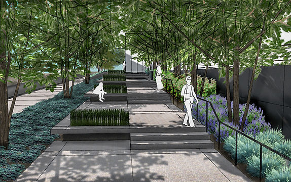 Kirkwood Performing Arts Center Plaza Sketchup Rendering