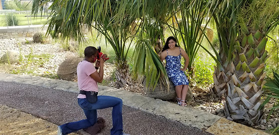 Behind the scenes at Isabel's senior session in Arlington, TX with G Photography