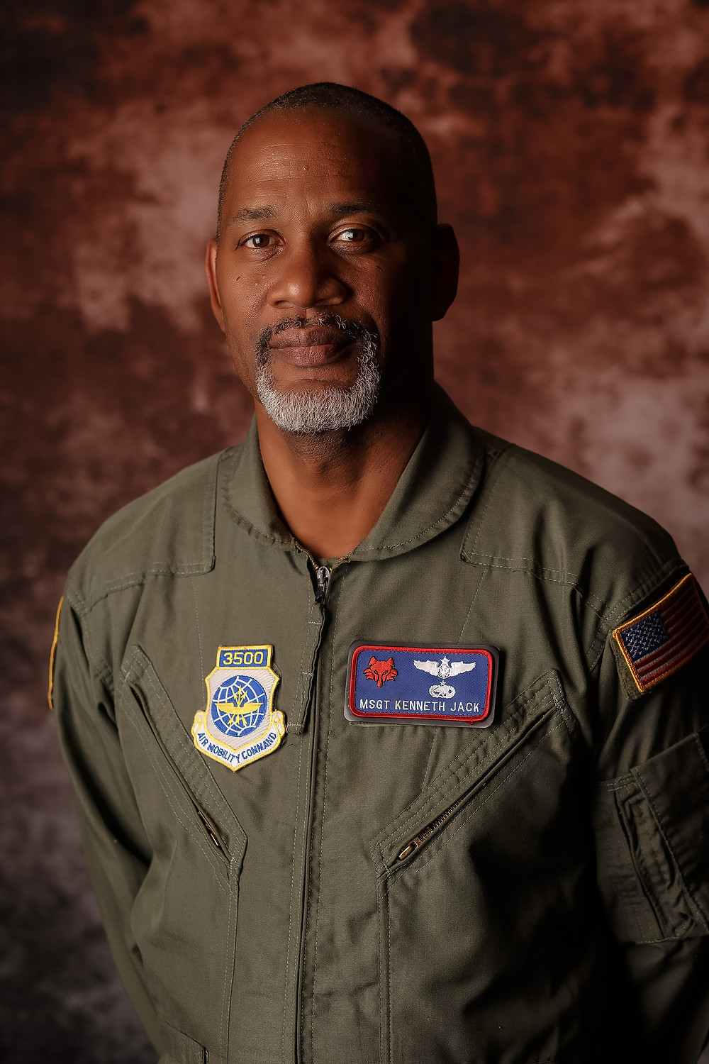 Portrait of Master Sergeant K Jack of the United States Air Force