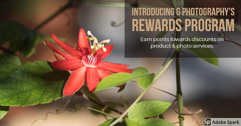G Photography Rewards Program