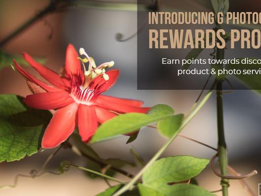 G Photography's Rewards Program