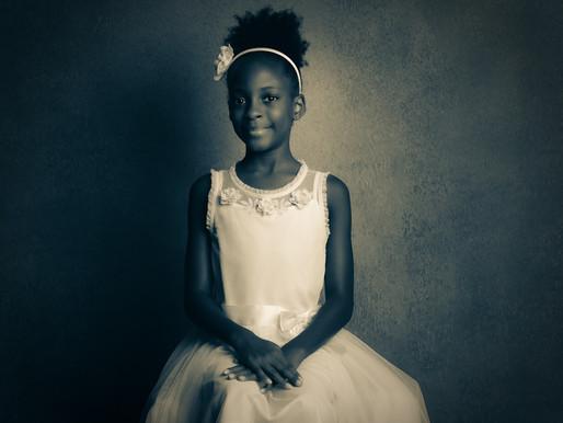 Triple the Fun: B. Moore Child Portrait
