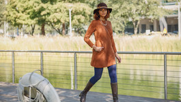Fall Fashion Bold, Brown, and Blue