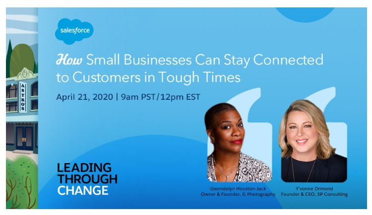 Salesforce cover page for small business webinar.