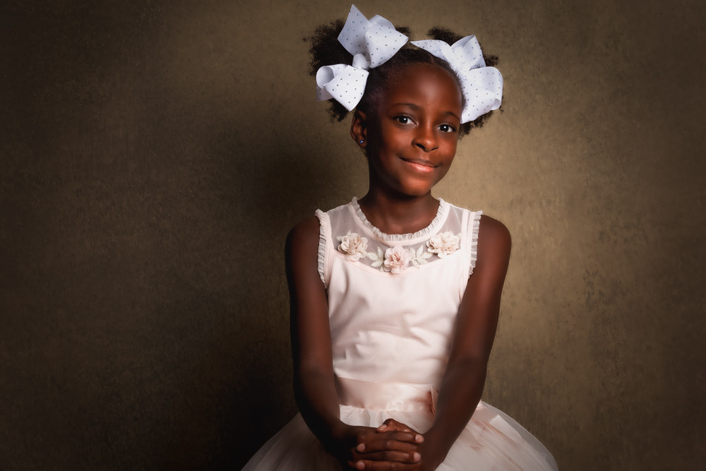 Child portrait of C. Moore at the G Photography Studio...located in Arlington, TX. Gwendolyn Houston-Jack, portrait artist.