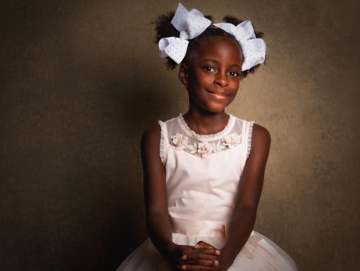Triple the Fun: C. Moore Child Portrait