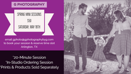 Book Your Spring Mini Sessions!