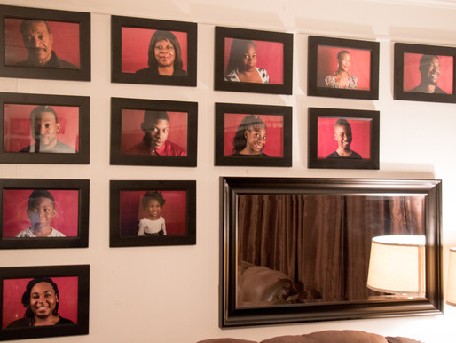 Project: Houston Family Picture Wall