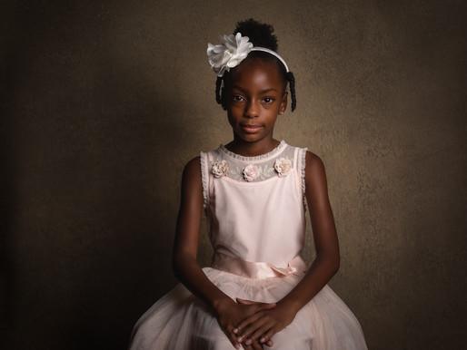 Triple the Fun: A. Moore Child Portrait