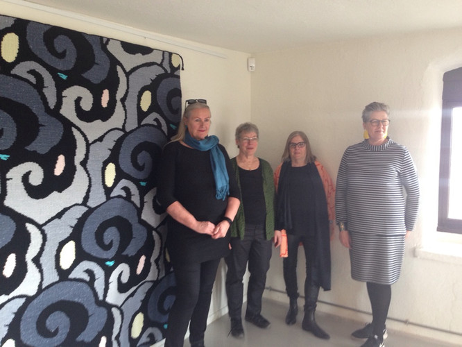 Fra venstre Barbro, Dorthe, Brita og Fie