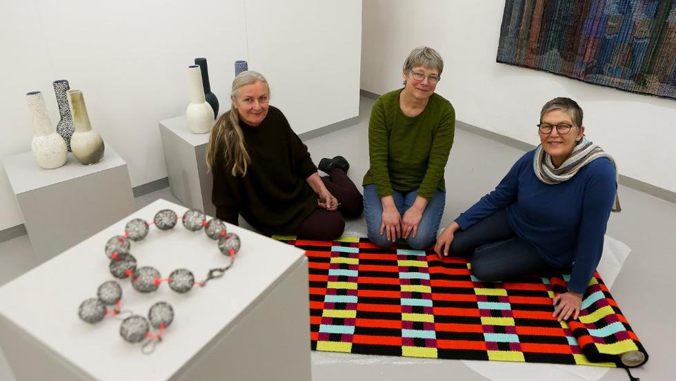 Fra venstre Barbro, Dorthe og Fie