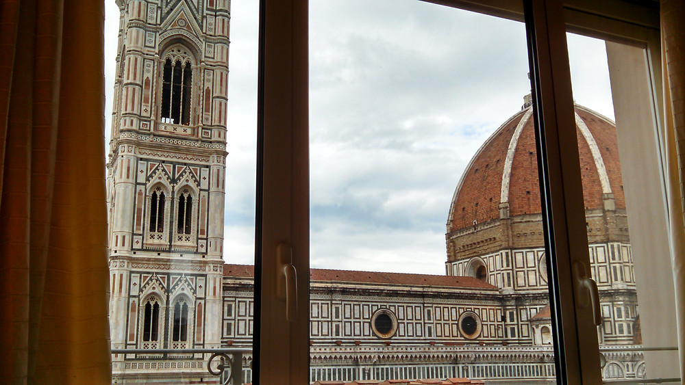 Luxury Travel -View from the Panorama room at Hotel Brunellschi