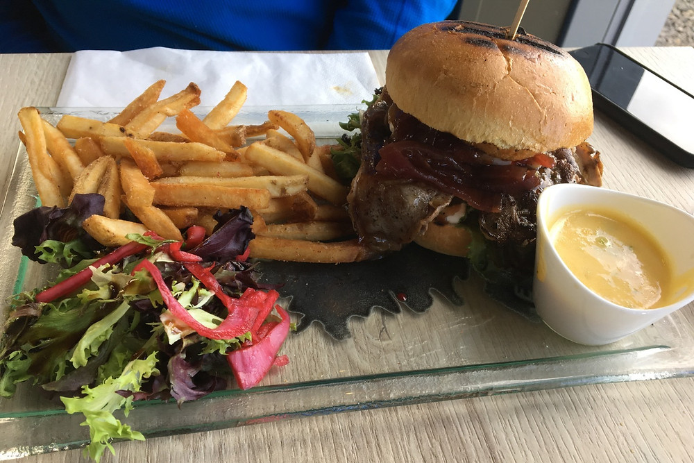 Tasty burger at the Beer Spa, Iceland