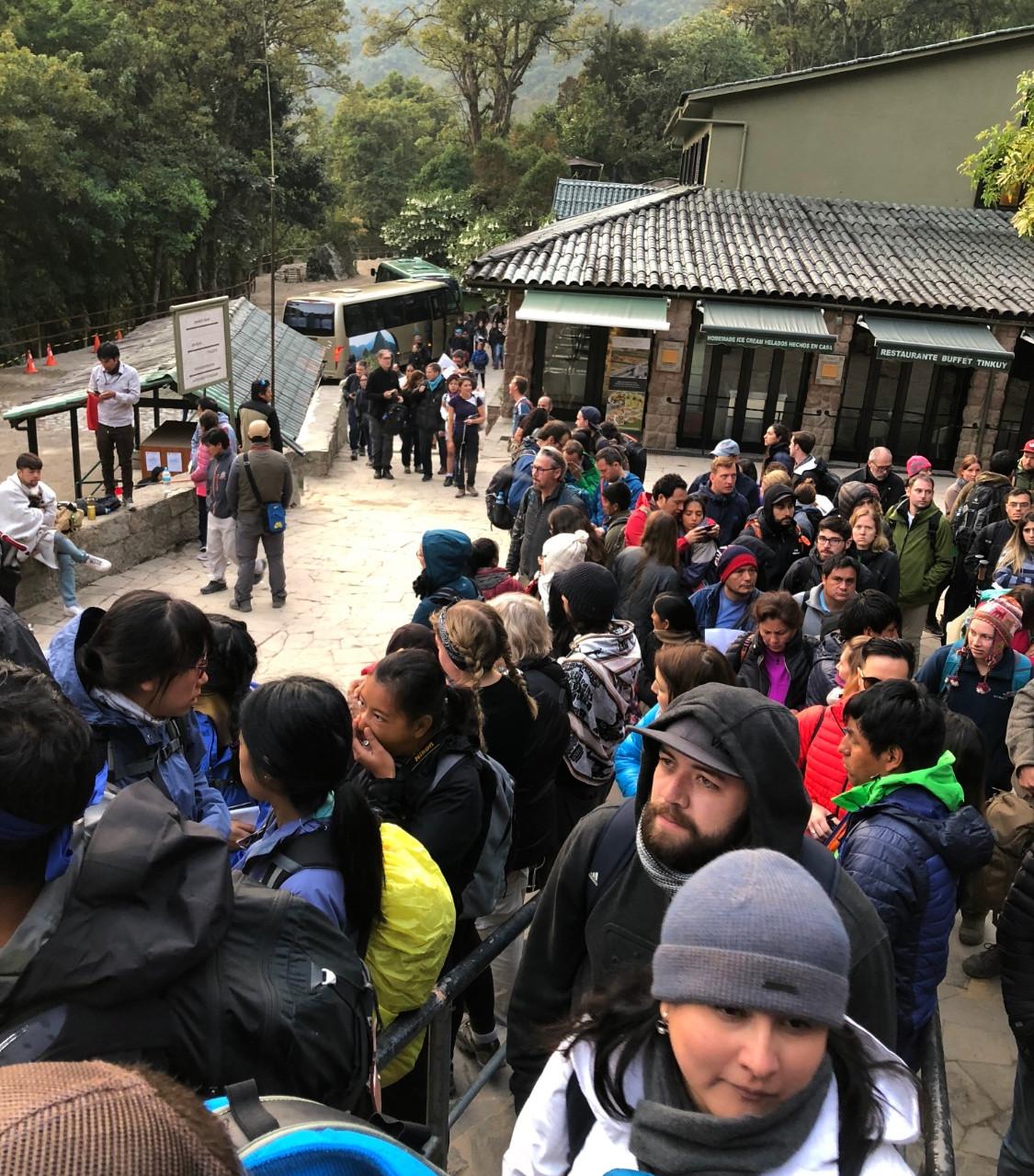 Machu Picchu entry line