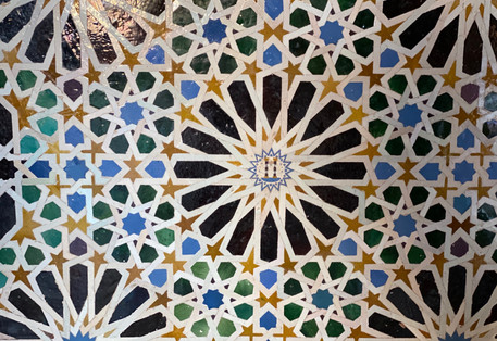 Alhmabra tilework, Granada, Spain - See our complete Southern Spain road trip itinerary at Paradox Travels
