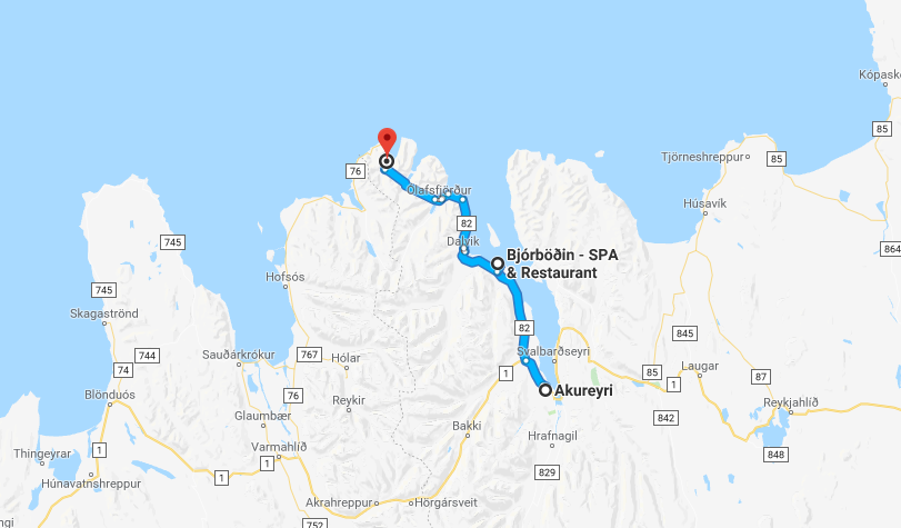 Location map for Bjorbodin Spa