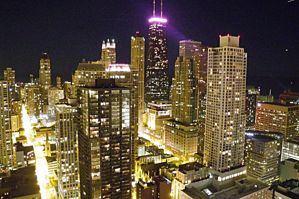 Chicago - view from Penthouses at Grand Plaza