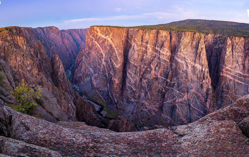 Painted wall - Black Canyon of the Gunnison National Park - photo credit: Nic Stover
