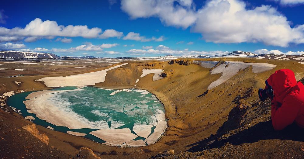 Viti Maar Crater, Iceland