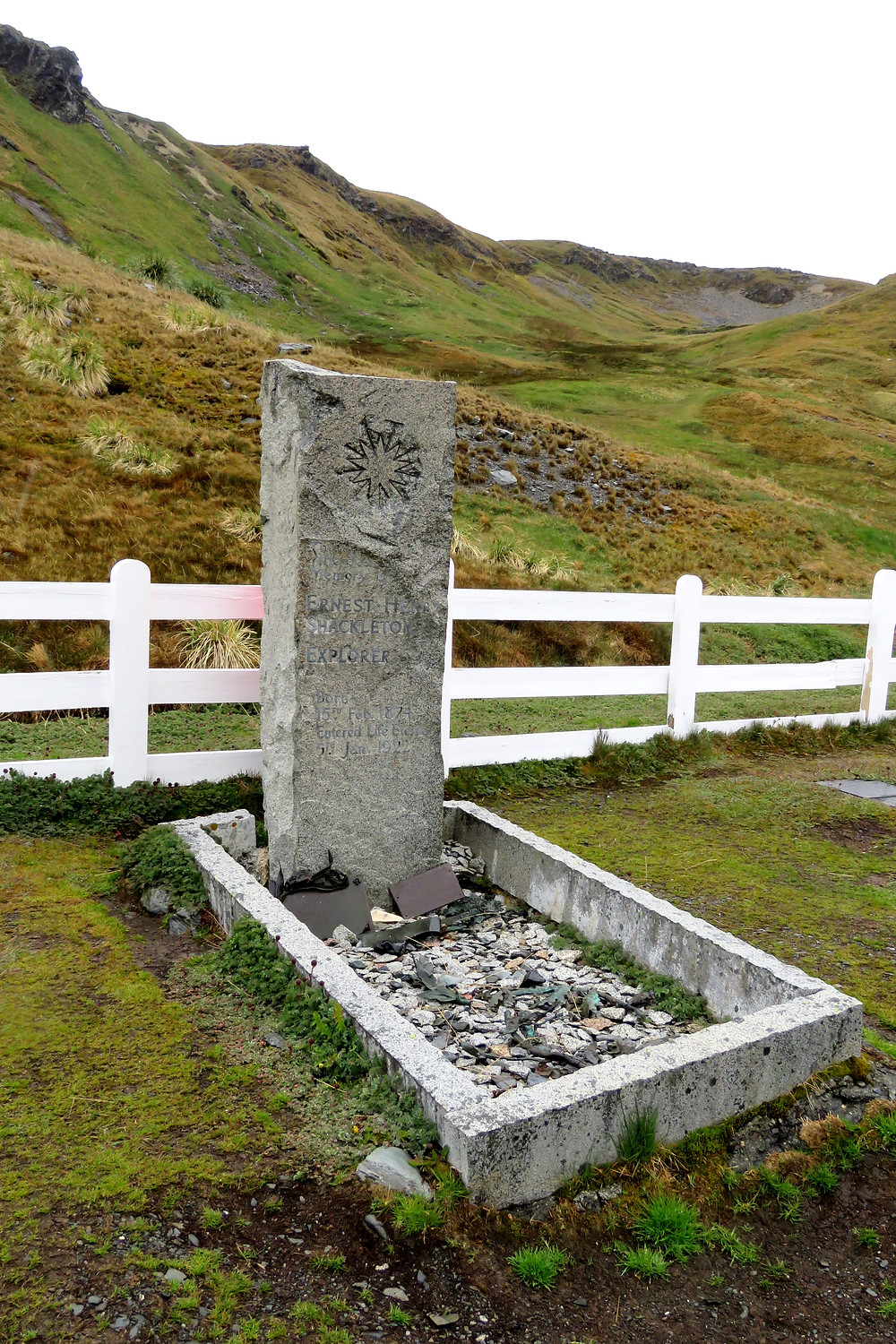 Ernest Shackletons'grave site, Grytviken South Georgia  photo: Paradox Travel www.paradoxtravels.com