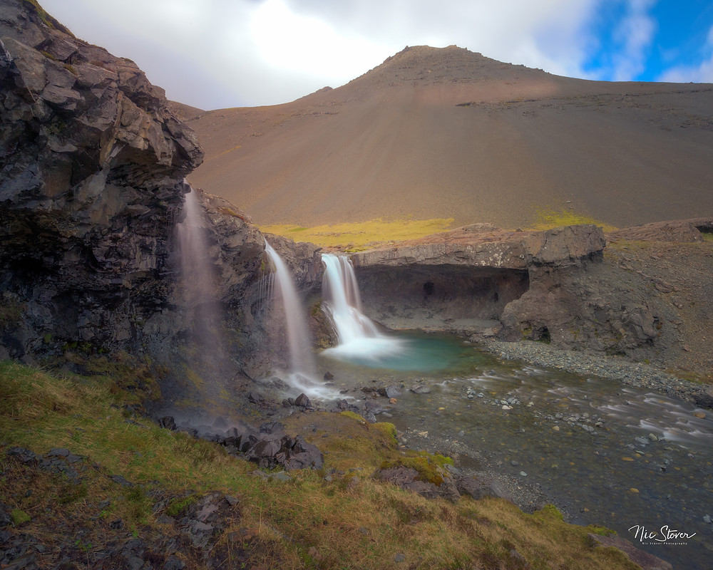 Sktutafoss near Hofn, Iceland  Photo credit : Nic Stover