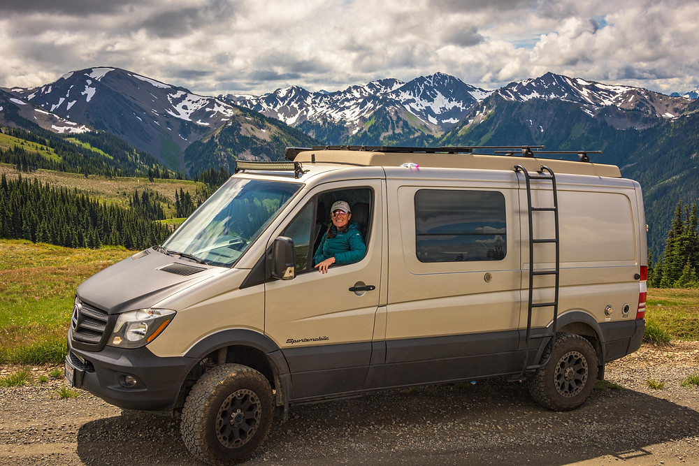 Paradox Travel - Our Mercedes Sprinter Van at Obstruction Point, Olympic National Park - see full road trip itinerary at www.paradoxtravels.com    photo courtesy of www.stoverphoto.com