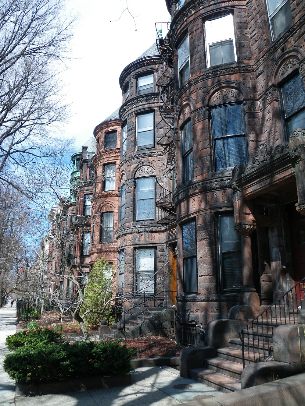 Beautiful brownstones on Newbury Street