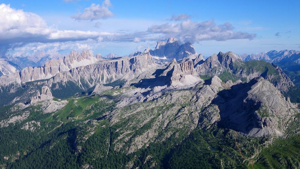 The Dolomites from Refugio Lagazuoi