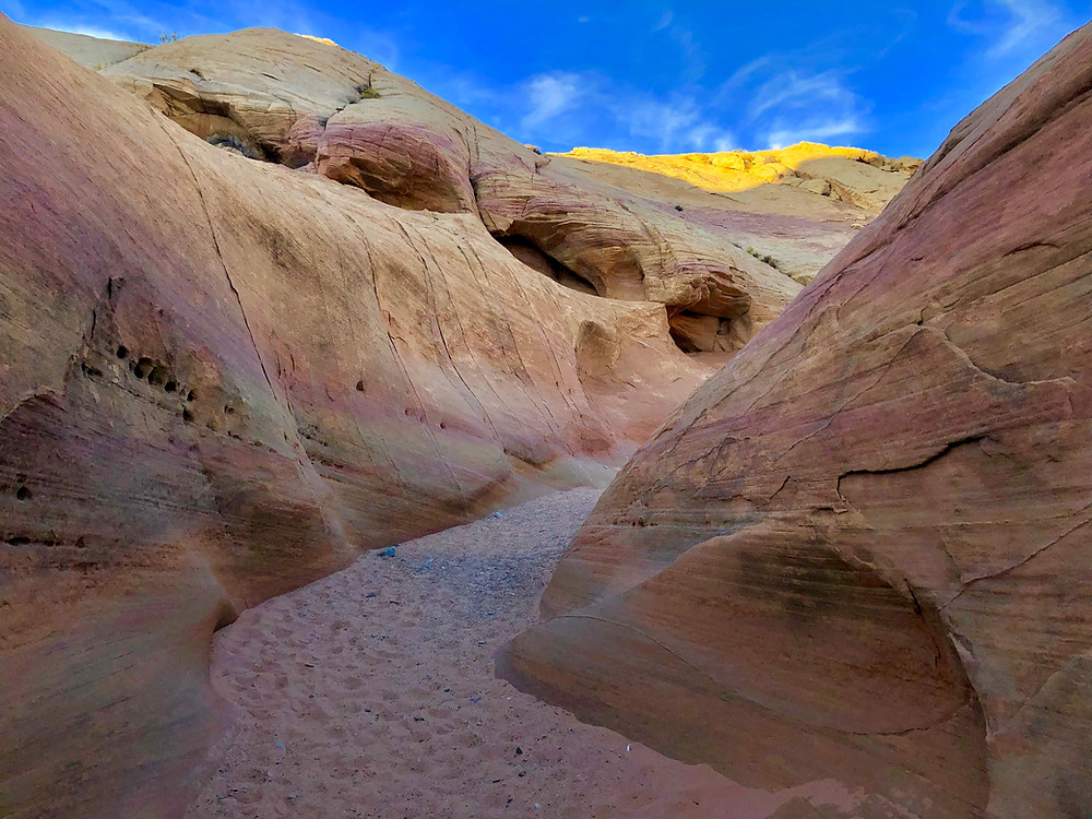 Pastel Canyon, Valley of Fire State Park - See complete road trip itinerary at Paradox Travel  Photo: Jen Stover