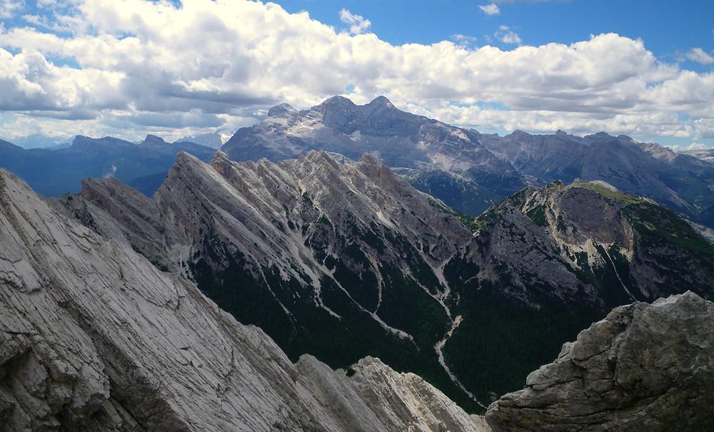 View of the Dolomites from Ivana Dibona Via Ferrate, Italy
