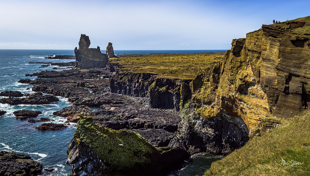 Londrager basalt towers, Iceland  photo credit: Nic Stover